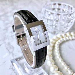 Christian dior ディオール ホワイトシェル文字盤 スクエアフェイス レディース 腕時計