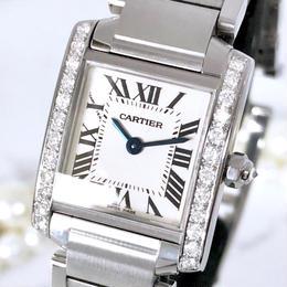 Cartier カルティエ タンクフランセーズ  SM ダイヤモンド  25P  クォーツ レディース 腕時計