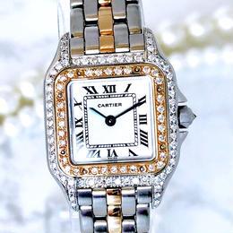 Cartier カルティエ パンテール SM コンビ ダイヤモンド  腕時計