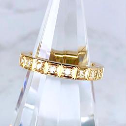 Cartier カルティエ ラニエール K18YG ダイヤモンド 16P 8号 リング