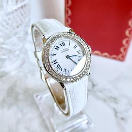Cartier カルティエ マストロンド 39P天然ダイヤモンド ベルト2色付き クォーツ レディース 腕時計