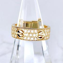 Cartier カルティエ ラブリング フルパヴェダイヤ 66P 8号 リング
