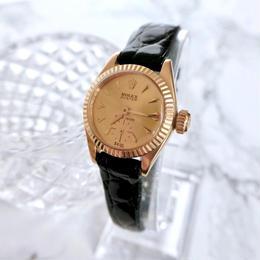 ROLEX ロレックス K18YG プレシジョン 手巻きレディース 腕時計