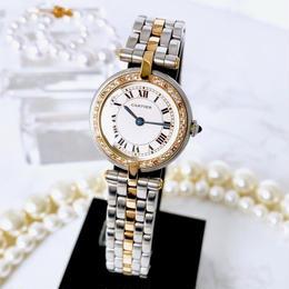 Cartier カルティエ パンテール SM ラウンド コンビ ダイヤモンド32P  腕時計