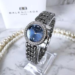 BALENCIAGA バレンシアガ  ラウンド ネイビー文字盤 クォーツ レディース 腕時計
