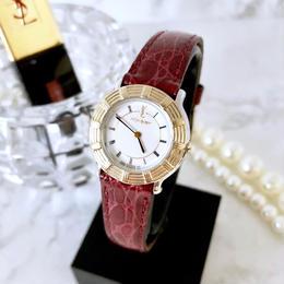 YSL イヴ・サンローラン ベルト2色付 コンビ クォーツ レディース 腕時計