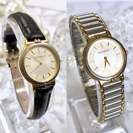 YSL イヴサンローラン ベルト2種付き コンビ クォーツ レディース 腕時計