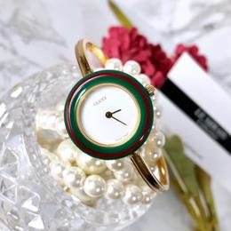 GUCCI グッチ 全純正 チェンジベゼル 5色付き  ゴールド レディース 腕時計