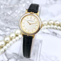 YSL イヴサンローラン OH済 ベルト2種付 コンビ  腕時計