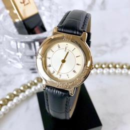 YSL イヴサンローラン 全純正 ベルト2色付 コンビ クォーツ レディース 腕時計