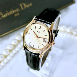 Christian Dior クリスチャンディオール OH済 デイト クォーツ レディース 腕時計