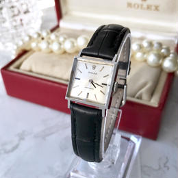 ROLEX ロレックス プレシジョン スクエア ベルト2色付き 手巻き レディース 腕時計