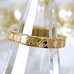 Cartier カルティエ ラニエール K18YG ダイヤモンド 4P 8号 レディース 指輪