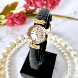 OMEGA オメガ デビル カットガラス K18YGGP 手巻き レディース 腕時計