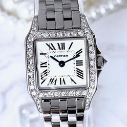 Cartier カルティエ サントスドゥモアゼル SM ダイヤモンド 腕時計