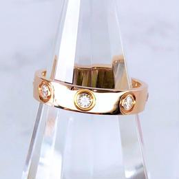 Cartier カルティエ ミニラブリング フルポイントダイヤ 8P  6号 リング