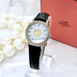 HERMES エルメス セリエ ベルト2色付き クォーツ レディース 腕時計