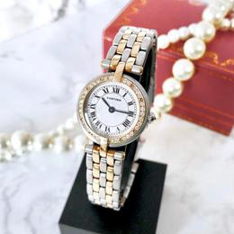 Cartier カルティエ パンテール ラウンド コンビ  ダイヤモンド 33P  クォーツ レディース 腕時計