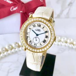 Cartier カルティエ マストロンド  ベルト2色付 ダイヤモンド  38P クォーツ レディース 腕時計
