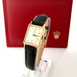 ROLEX ロレックス K18YG プレシジョン スクエアフェイス 腕時計