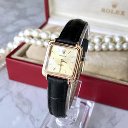 ROLEX ロレックス OH済 K18無垢  スクエア 手巻き レディース 腕時計