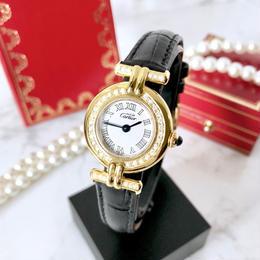 Cartier カルティエ 新型コリゼ ベルト 2色付 ダイヤモンド 40P  クォーツ レディース 腕時計
