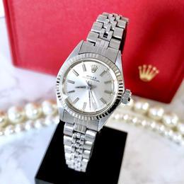 ROLEX ロレックス オイスター パーペチュアル K18WGベゼル 腕時計