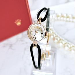 ROLEX ロレックス カットガラス K14YG 手巻き レディース 腕時計