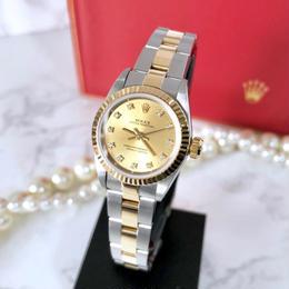 ROLEX ロレックス OH済み ダイヤモンド 11P K18ベゼル レディース 腕時計