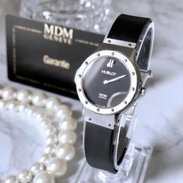 HUBLOT ウブロ クラシック ブラック文字盤 クォーツ レディース 腕時計