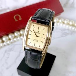 OMEGA オメガ ベルト2色付 デビル ゴールド スクエア ユニセックス 腕時計