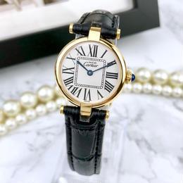 Cartier カルティエ ヴァンドーム オパラン文字盤 ベルト2色付 腕時計