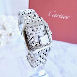 Cartier カルティエ パンテール 40P 天然ダイヤモンド クォーツ レディース 腕時計