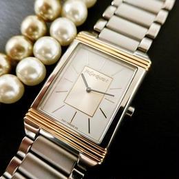 YSLイヴサンローラン ユニセックス スクエアフェイス SSベルト腕時計