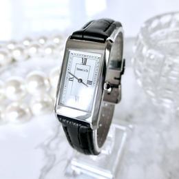 Tiffany ティファニー ベルト2色付き スクエア クォーツ レディース 腕時計