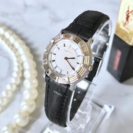 YSL サンローラン ローマンインデックス コンビ クォーツ レディース 腕時計