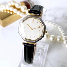 YSL イヴ・サンローラン OH済 ベルト2種付き 腕時計