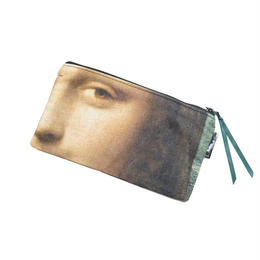 """MUSEE DU LOUVRE PEN CASE SMALL POUCH """"MONA LISA"""" ルーブル美術館  モナリザ ペンケース ミニポーチ"""