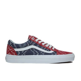VANS  OLD SKOOL BANDANA  RED NAVY バンズ オールドスクール