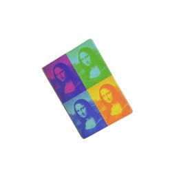 "MUSEE DU LOUVRE CARD CASE  ""MONA LISA"" ルーブル美術館 モナリザ パスケース カードケース"