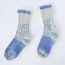 KUT1405A  ざっくり編みくつした/ブルー
