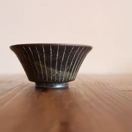 トクサそり飯碗(S) 黒 B-091