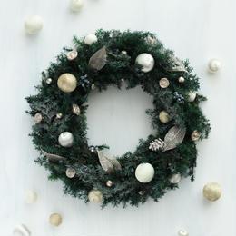プリザーブドクリスマスリース(フォイユ)