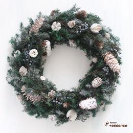プリザーブドクリスマスリース(フォレスト)