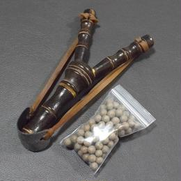Slingshot Bamboo with Clay Ball 1 Pack