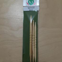 縄編み針 3本セット  白竹