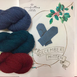 December mitten kit  パターンと糸
