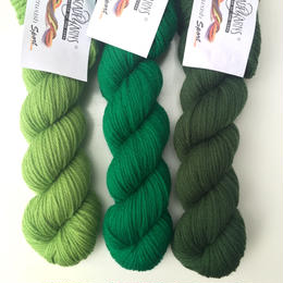 Cascade 220  sport superwash  緑系カラー