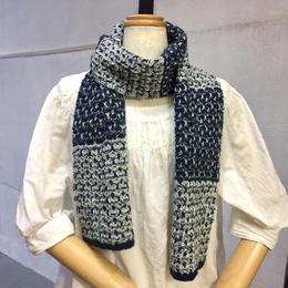 『イサガーの糸で編むタックスティッチのスカーフ』西村知子WS