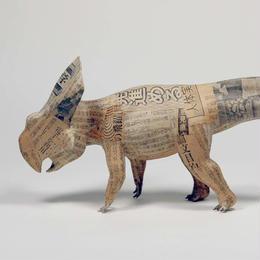 杉﨑良子作品 【昭和50年4月16日】 「 時を身に纏って ーシンブンシキョウリュウ」展出品 プロトケラトプス Protoceratops